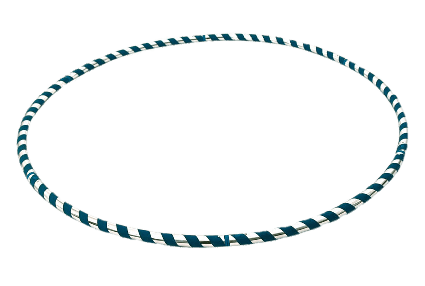 Silver and Blue Hula Hoop transparent PNG.