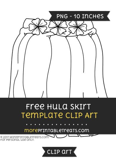 Free Hula Skirt Template.