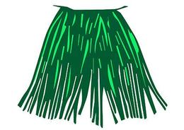 Download coconut bra and grass skirt clipart Grass skirt Hula.