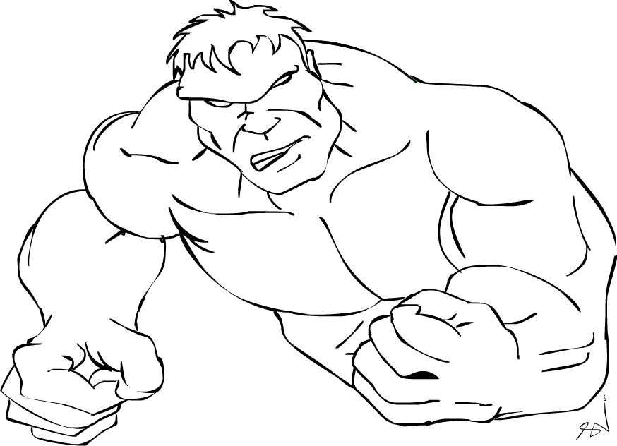 Hulk clipart black and white clipartfox 2.