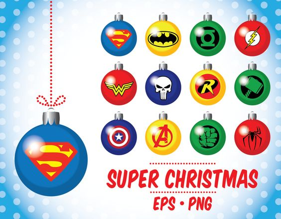 Black friday sale, Superheroe Christmas clipart, Christmas ball.