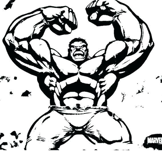 Hulk clipart black and white 2 » Clipart Station.