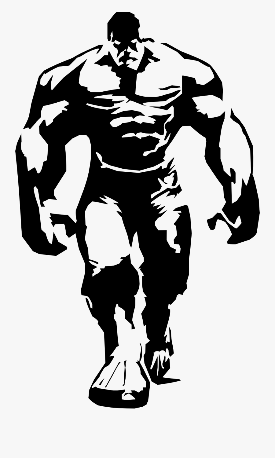 Hulk Black And White , Free Transparent Clipart.