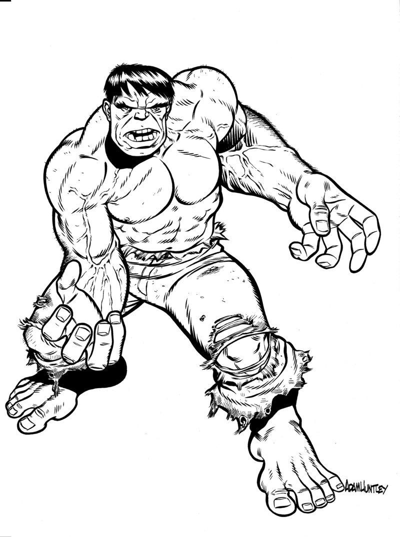 Hulk clipart black and white 3 » Clipart Station.