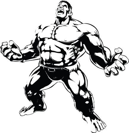 Free Clipart of the hulk.