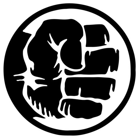 Free Hulk Fist Silhouette, Download Free Clip Art, Free Clip.