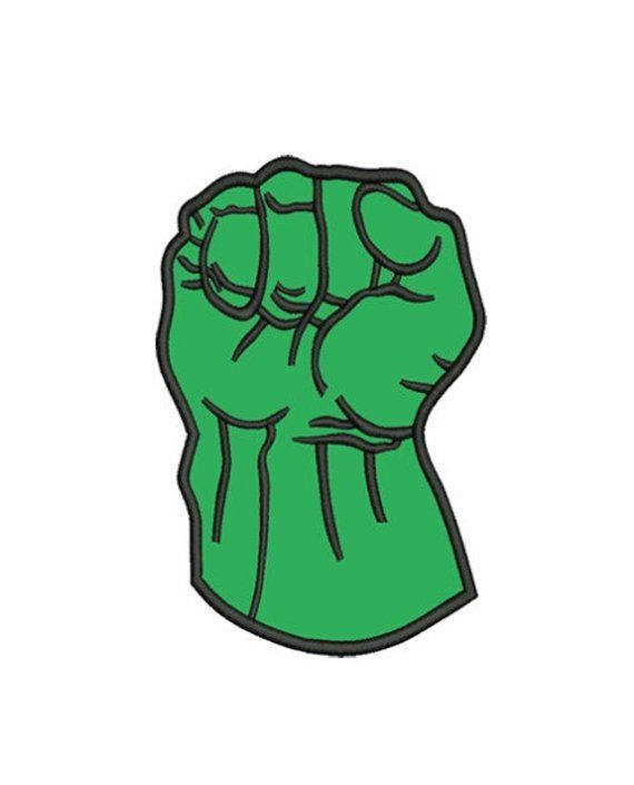 Hulk Fist applique machine embroidery designs 3 sizes 4x4.