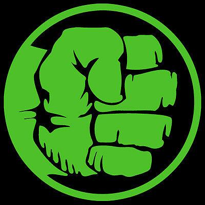 Hulk Fist Decal Sticker Avengers Marvel Comics.