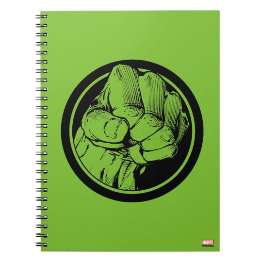 Avengers Hulk Fist Logo Notebook.