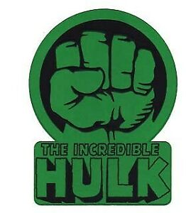 Details about Incredible Hulk Fist Logo Iron.