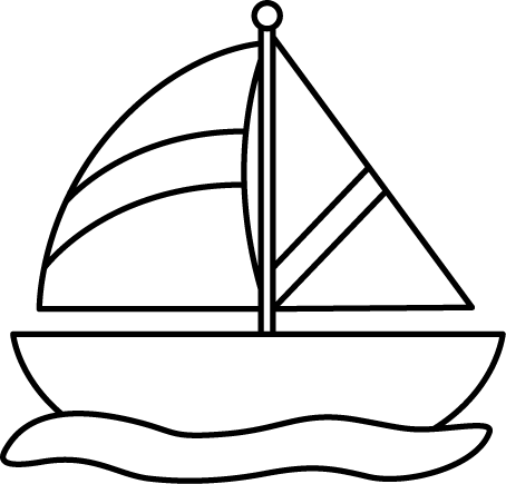 Veiw of the hull of a boat in water clipart.