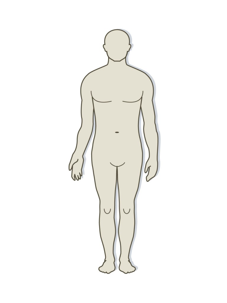 Outline Of Human Body Clipart.