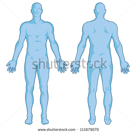 human body outline clipart male #12