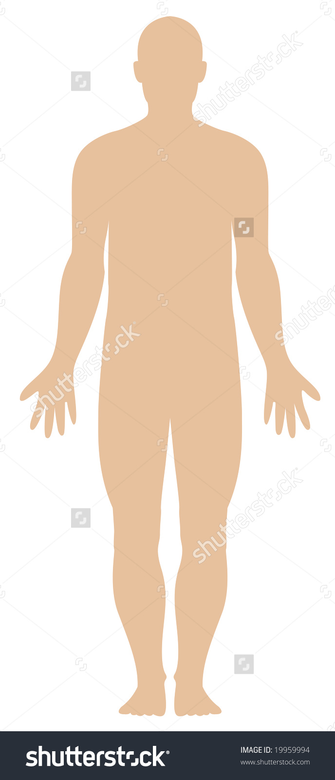 Illustration Plain Human Body Outline Stock Illustration 19959994.
