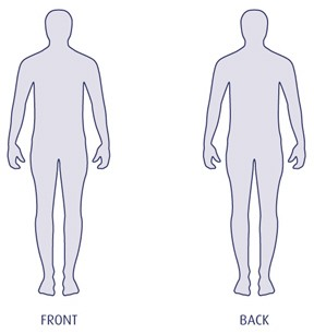 Printable human body outline templates DUŠAN ČECH.