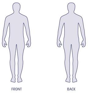 Printable human body outline templates DUŠAN ČECH.