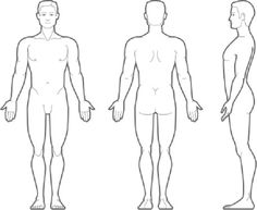 Human Body Anatomy Outline Printable for Kids.