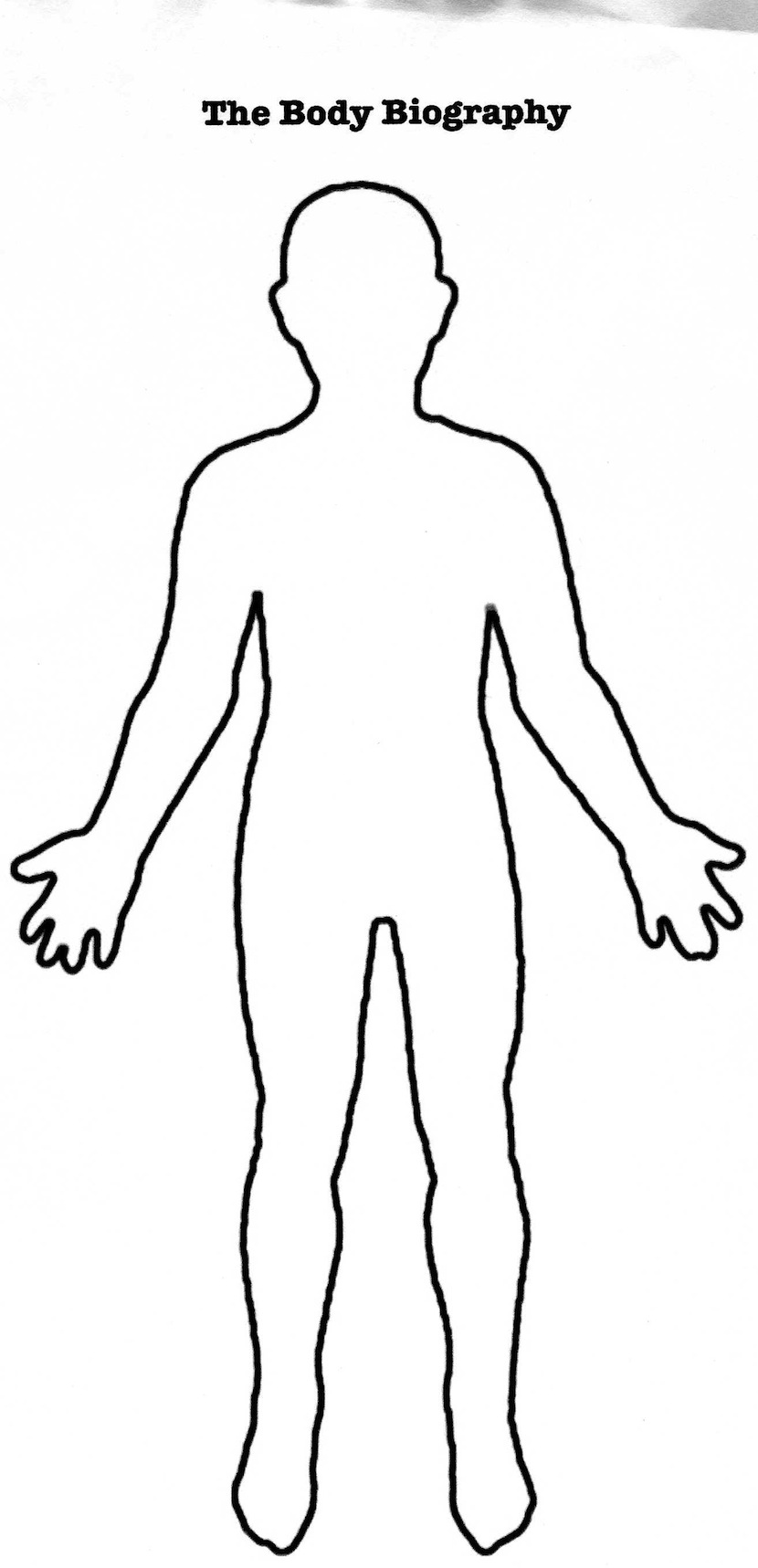 Human Outline Template.