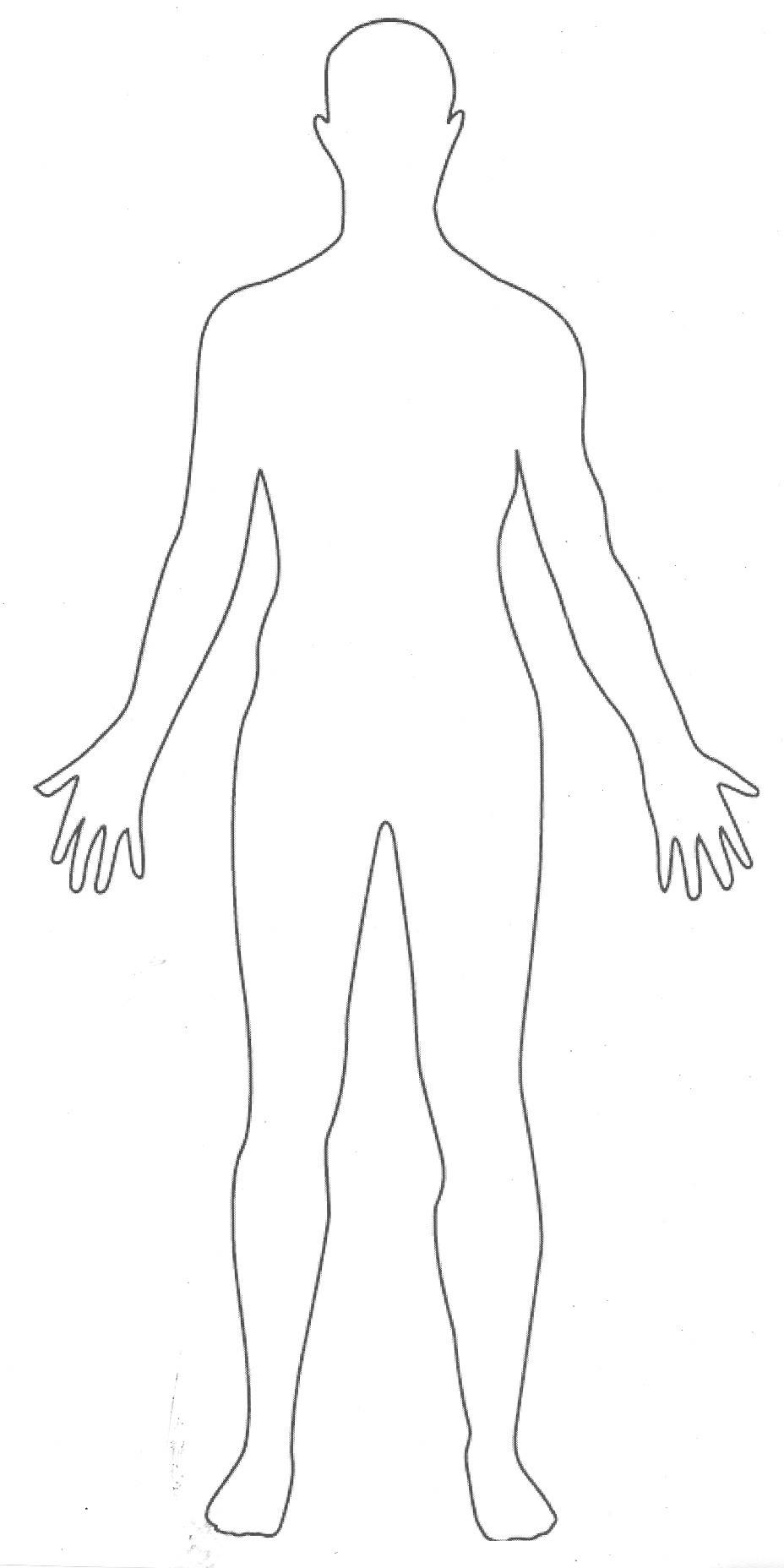 printable human body outline.