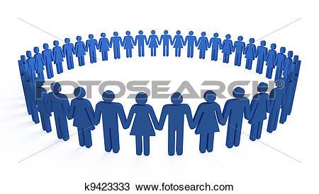 Drawing of human circle k9423333.