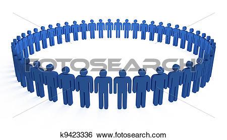 Stock Illustration of human circle k9423336.