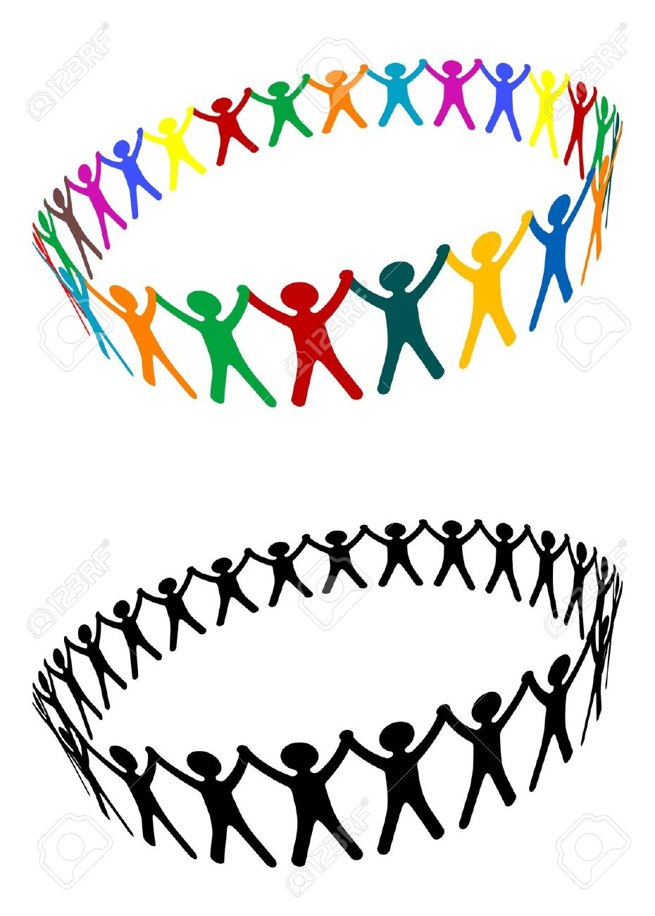 Round Of Peoples As A Friendship Symbol Royalty Free Cliparts.