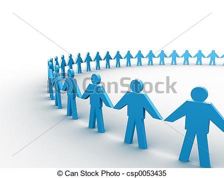 Stock Illustrations of Human circle.
