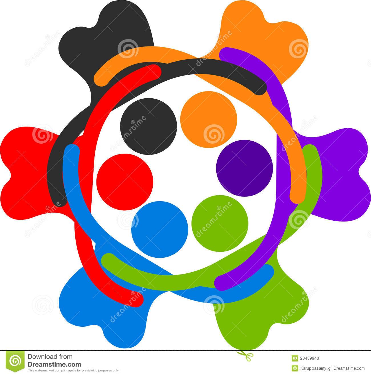 Human Circle Logo Stock Photo.