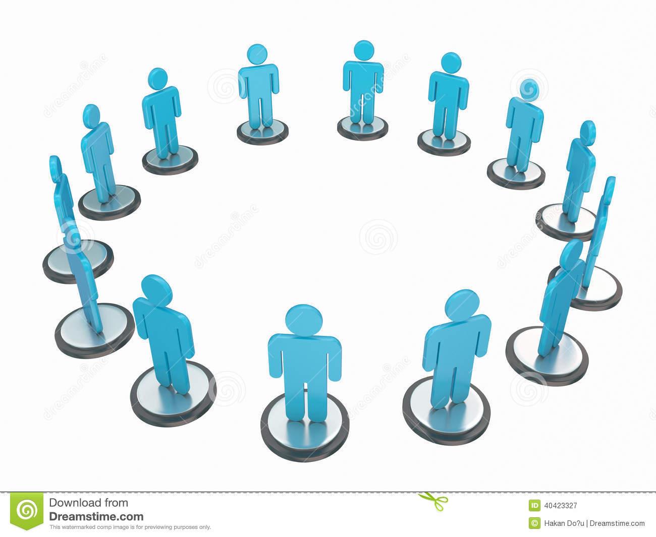 Human Circle Stock Illustration.