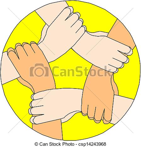 Clip Art Vector of Human hands making a circle csp14243968.