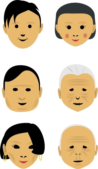 Human Faces clip art Free vector in Open office drawing svg ( .svg.