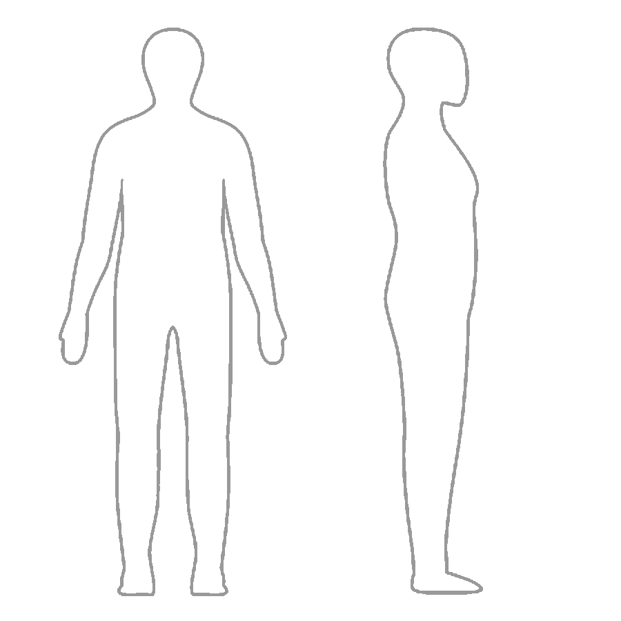 simple human body outline.