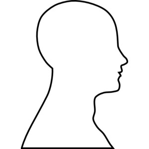 headshot border template - human head clipart clipground
