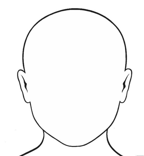 Critical image with human face template printable