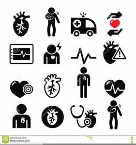 Human Heart Clipart Black And White.