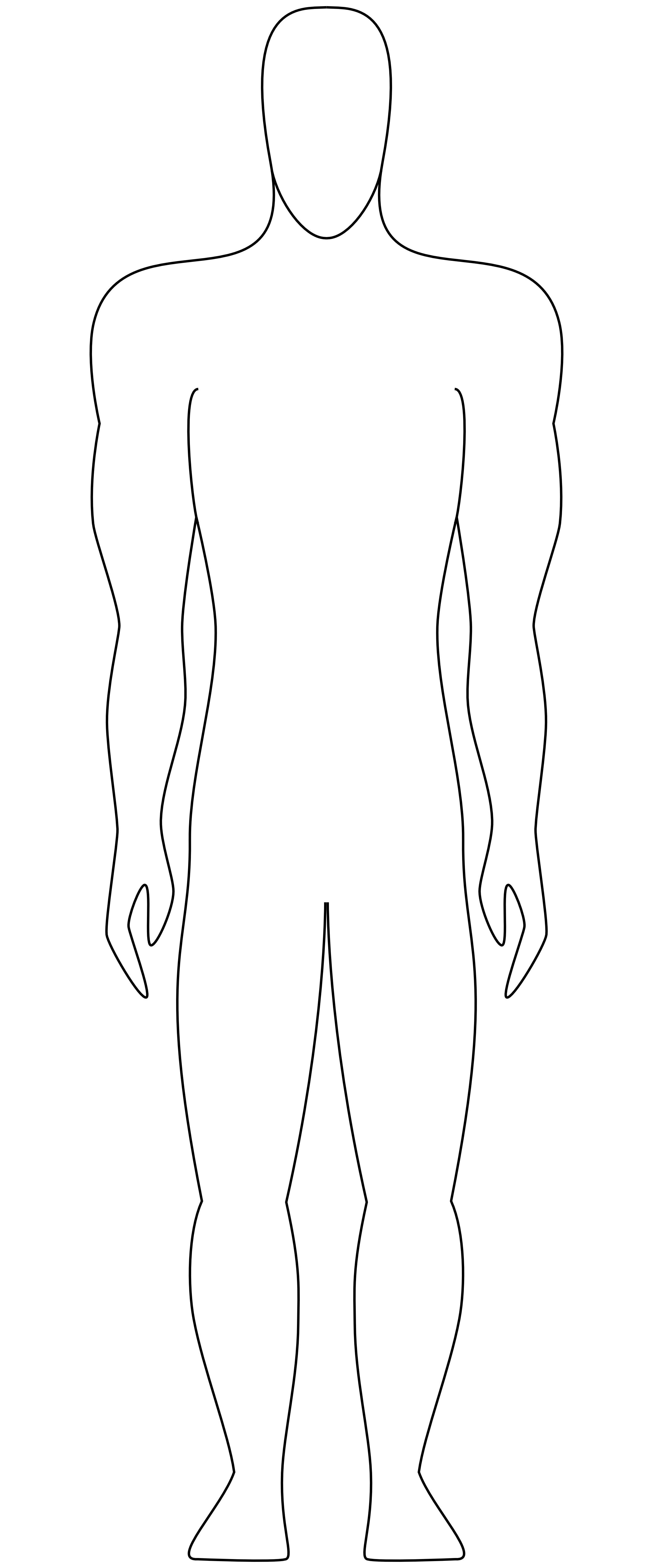 Outline of the human body clipart images gallery for free download.