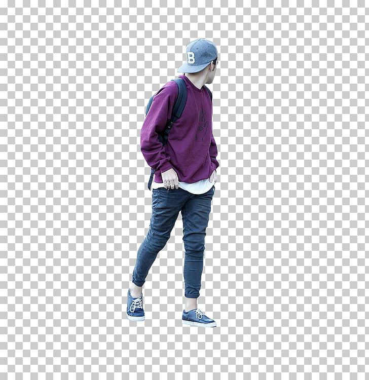 Rendering Walking Man, walking people, man wearing purple.