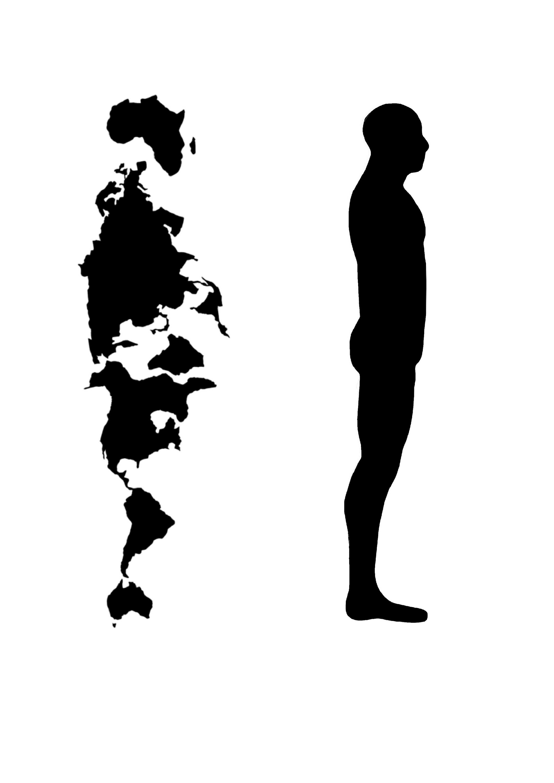 Human Silhouette Profile.