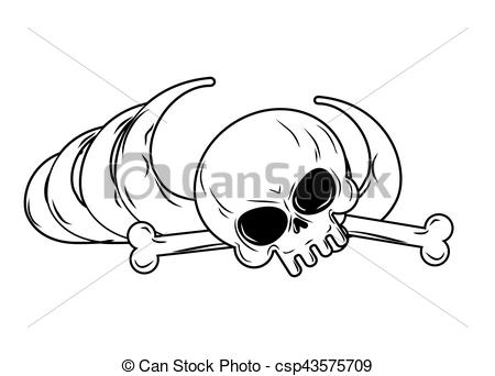 Vector Clipart of human remains isolated. Bones, Skeleton and.
