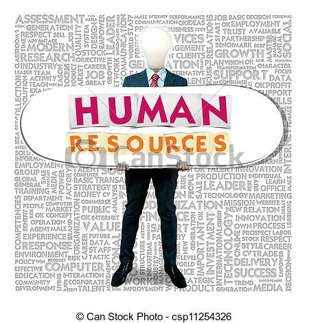 Human Resource Management Clip Art.
