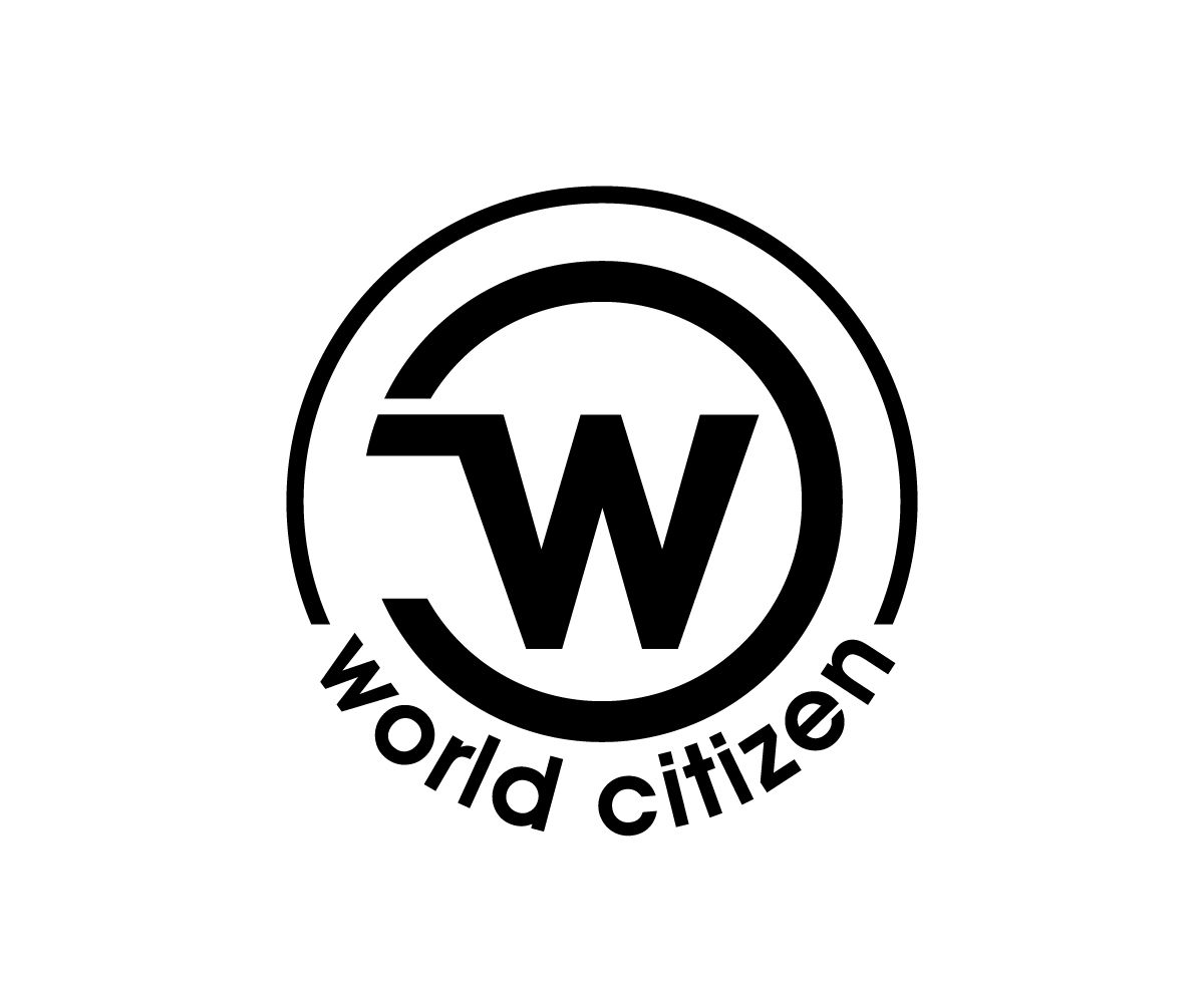 world citizen logo for a human rights campaign Bold, Serious.