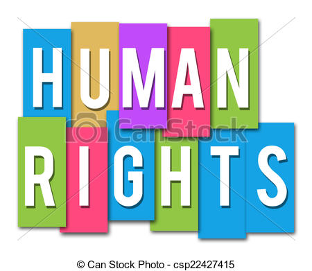Clipart of Human Rights Colorful Stripes.