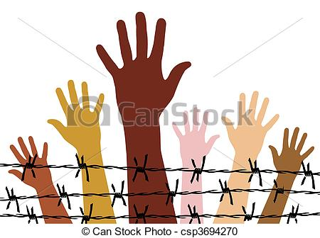 Vector Clipart of Human rights.