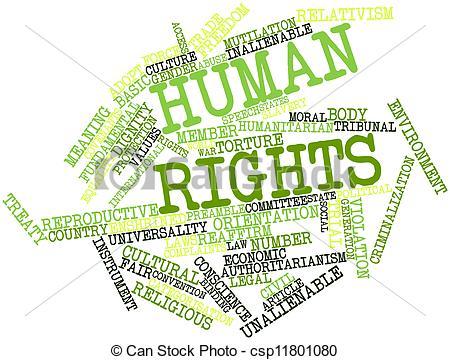 Human Rights Violations Clip Art.