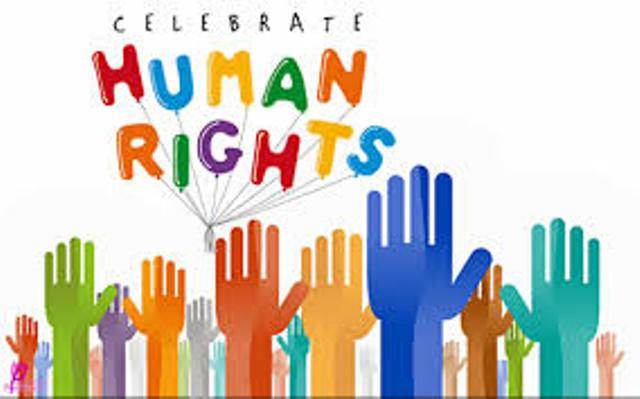 Celebrate Human Rights Day Hands Up Clipart.