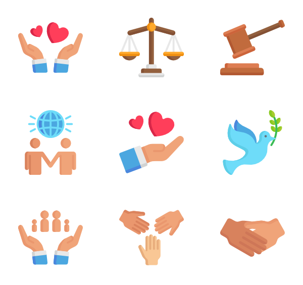 37 human rights icon packs.