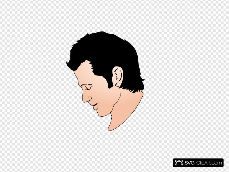 Man Face Side View Clip art, Icon and SVG.