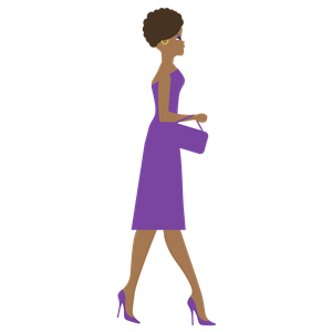 African Woman Side View clipart, cliparts of African Woman.