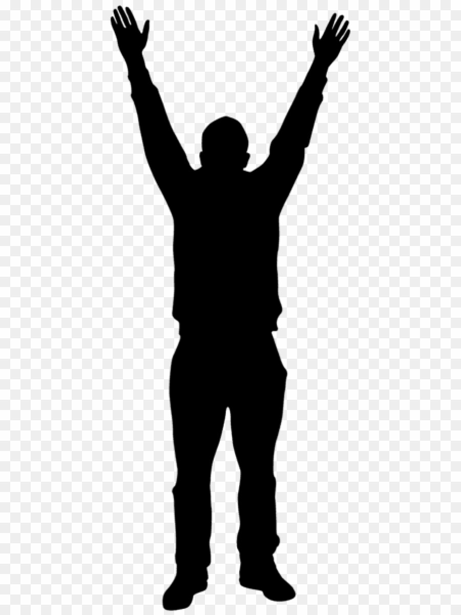 Human Silhouette Hands Up PNG Silhouette Human Clipart download.