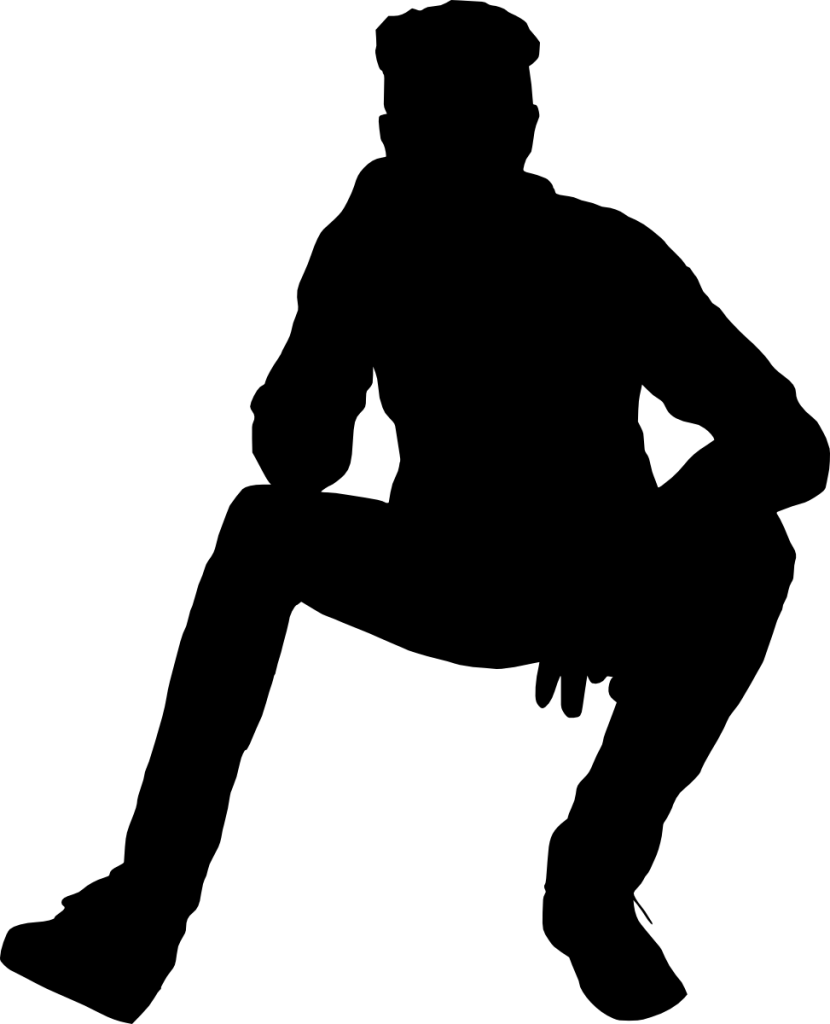 12 People Sitting Silhouette (PNG Transparent).